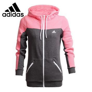 Original New Arrival Adidas Women's jackets Hooded Sportswear free shipping