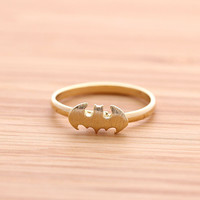 BATMAN ring(adjustable), 2 colors | girlsluv.it - handmade jewelry collection, ETSY, Artfire, Zibbet, Earrings, Necklace