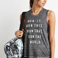 Run Burnout Athletic Muscle Tee