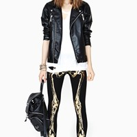 Gold Bones Leggings