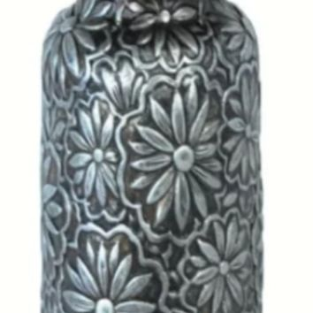 Cowgirl Kim Faux Metal Embossed Pillar Candle Holder