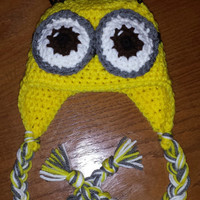 Crochet Minions Ear Flap Hat