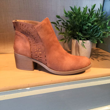 The Philly Cognac Booties