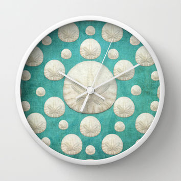 Sand Dollars Wall Clock by Lisa Argyropoulos