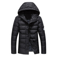 Jackets and Coats Parkas Jaqueta Masculina Casual Slim Fit Cotton Hooded Veste Homme Jackets