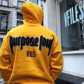 Purpose Tour Unisex Yellow Sweatshirts Hoodies