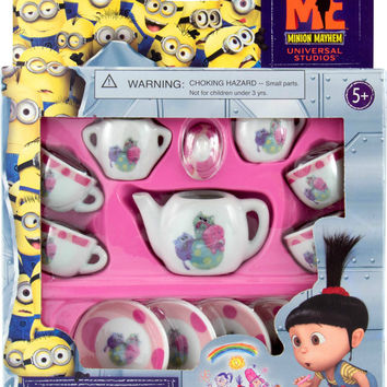 Despicable Me Agnes Little Tea Set Kittens Miniature Porcelain Minion Mayhem NEW