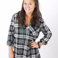 Glam Babe Flannel Tunic