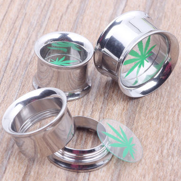 Body Jewelry Nickel- Stainless Steel Internally Threaded Mix 6-16mm 60pcs/lot Ear Plug And Tunnel Piercing Ear Expander