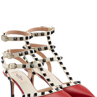 Valentino - Leather Rockstud Kitten Heels