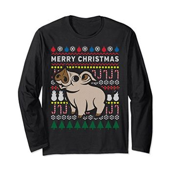 Pig Ugly Holiday Long Sleeve T-Shirts - Merry Christmas