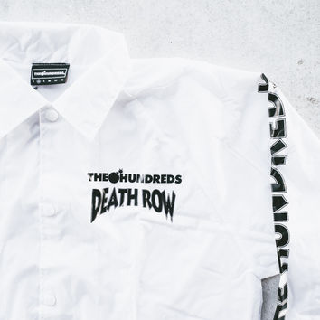 2aaa0a5e533779 Hundreds Death Row Coaches Jacket - White from sneakerpolitics.co