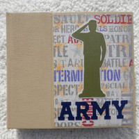 6x6 Army Scrapbook Album