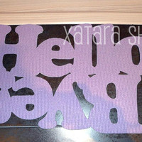 Personalized mat/rug with double message Hello / Bye by Xatara