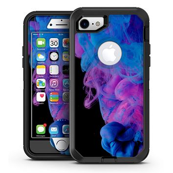Glowing Pink and Blue CloudSwirl - iPhone 7 or 7 Plus OtterBox Defender Case Skin Decal Kit