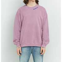 UO Have A Nice Day Pink Overdye Crewneck Sweatshirt | Urban Outfitters