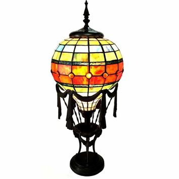 "ROZIER Tiffany-style 1 Light Table Lamp 11"" Shade"