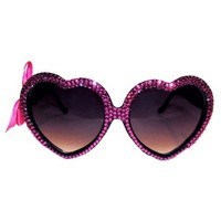 Hot Pink Swarovski® Heart Sunnies