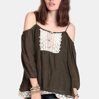 One With Nature Off-Shoulder Blouse