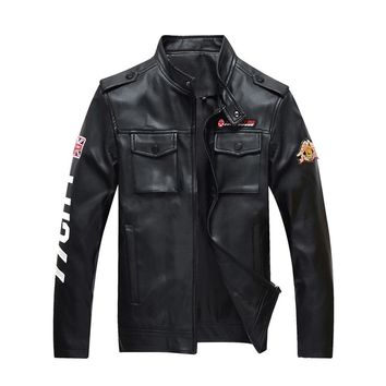 Gothic Punk Faux Leather Stand Collar Jacket