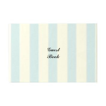 Decorative Stripes Guest Book