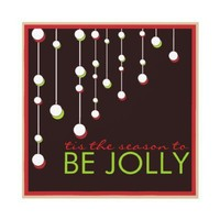 Be Jolly Modern Decoration Christmas Party Personalized Invite from Zazzle.com