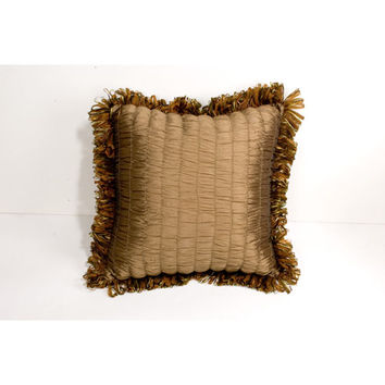 Canaan Company P-879-A 20x20 Accent Pillow with Ribbon Loop Trim