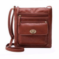 New Promotion Women PU Leather Vintage Messenger Bags Hobo Tote Satchel Female Famous Designer Crossbody Bag