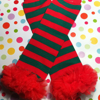 Green & Red Striped Candy Cane Christmas Leg warmers-Grinch Christmas-Christmas Photo Props