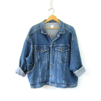 Vintage Venezia Jean Jacket. Denim Jacket. stonewash denim jacket. Boyfriend jean jacket. 80s Womens jacket. Boho Grunge. Plus size XL XXL