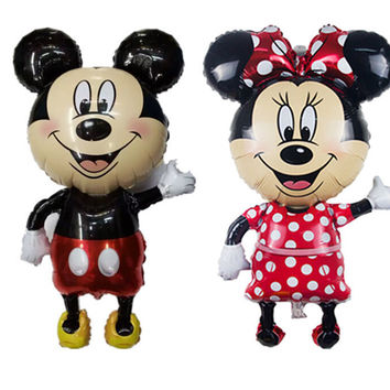 New Large 46inch 1PC Giant Mickey and Minnie Balloon Mouse Inflatable Helium Foil children Birthday Party Balloon