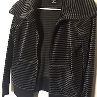 Calvin Klein Performance Quick Dry Striped Athletic Cotton Jacket Size Medium