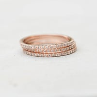 Eternity Ring Set - Rose Gold