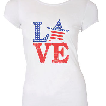 American Love Red White and Boozed T-shirt Shirt United States Pride 4th of July America Merica cool gift nation Mens Ladies swag MLG-1135