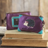 Hedgehog  Vegan  Leather  ID  Pouch  From  Natural  Life