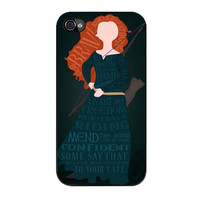 merida typography disney case for iphone 4 4s