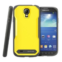 SUPCASE Samsung Galaxy S4 Active Unicorn Beetle Dual Layer Case - Free HD Clear Screen Protector, Yellow/Gray