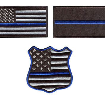 Blue Lives Matter BLM Police Patch (Choose Inside)