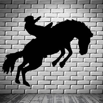 Cowboy Wild West Western Mural Wall Art Decor Vinyl Sticker Unique Gift z220