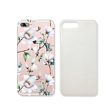 Magnolia Flower Transparent Plastic Phone Case for iphone 7 _ SUPERTRAMPshop (iphone 7)