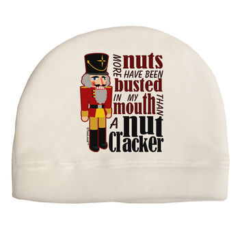 More Nuts Busted - My Mouth Adult Fleece Beanie Cap Hat by