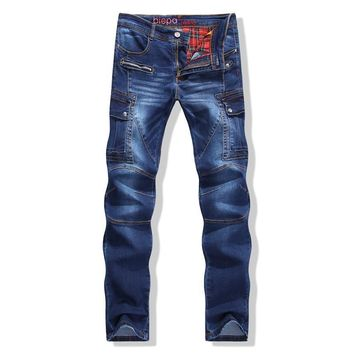 Hot Sale Stretch Slim Denim Pants With Pocket Men's Fashion Jeans [6541741059]