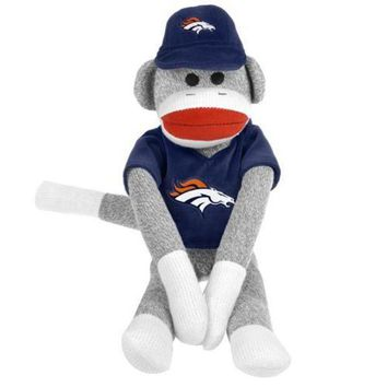 DCCKH6B Denver Broncos NFL Plush Uniform Sock Monkey