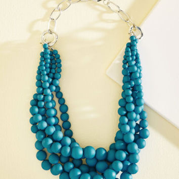 Burst Your Bauble Necklace in Lake | Mod Retro Vintage Necklaces | ModCloth.com