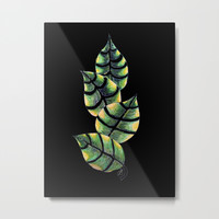 Viper Leaves Metal Print by ES Creative Designs