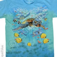 T-shirt Tye Dye Tropical Reef Aquatic