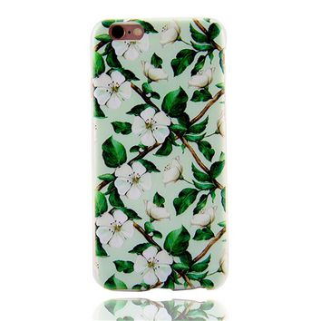 Floral Cover Case for iPhone 7 7Plus & iPhone 6s 6 Plus & iPhone X 8 Plus with Gift Box