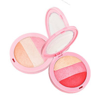 BY NANDA New Beauty Face Blush Makeup Baked Cheek Color Blusher Palette Shimmer Sleek Cosmetic Face Shadow Press Powder