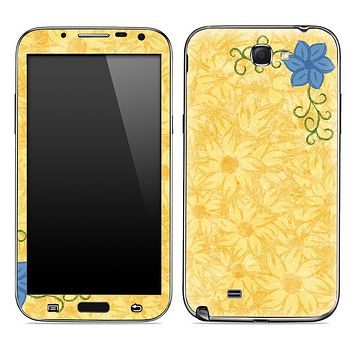 Orange Floral Abstract Skin for the Samsung Galaxy Note 1 or 2