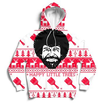 Happy Little Trees Christmas Hoodie